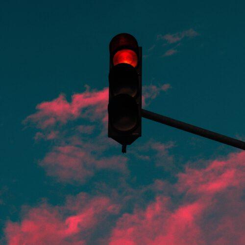 Verkeersboete stoplicht rood licht